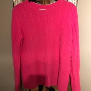 Pink Cashmere Vineyard Vines Cable Sweater